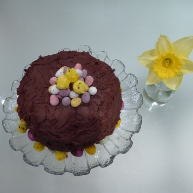 Miss L's chocolate Easter cake