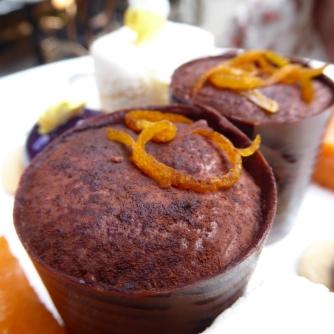 dark chocolate & pine mousse, cacao sponge candied orange honey, crystallised pine leaves